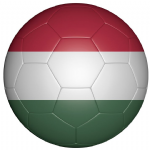 Hungary Football Flag 25mm Button Badge
